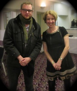 Miles Jupp and Sandra Lambert